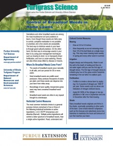 "CLICK on this Screenshot to READ Purdue Extension's FREE PUBLICATION, ""Control of Broadleaf Weeds in Home Lawns"""