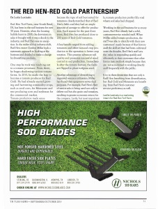 Red Hen-Red Gold Partnership - Turfgrass Producers International SeptOct 2015