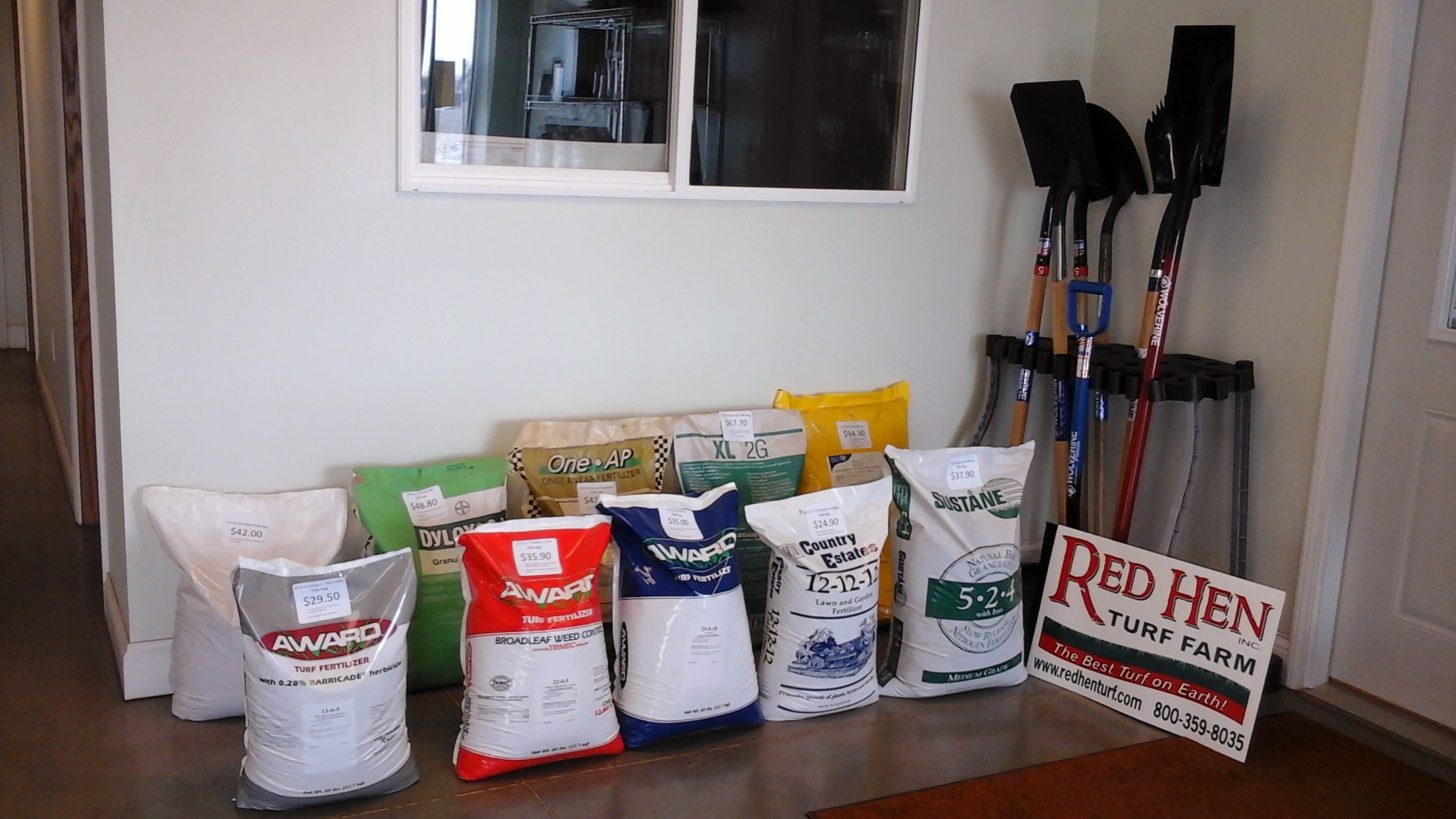 Photo of Red Hen - Fertilizer and Tools_03-11-16